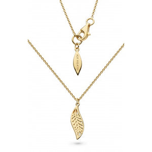 18ct Gold Plated Mini Leaf Necklace
