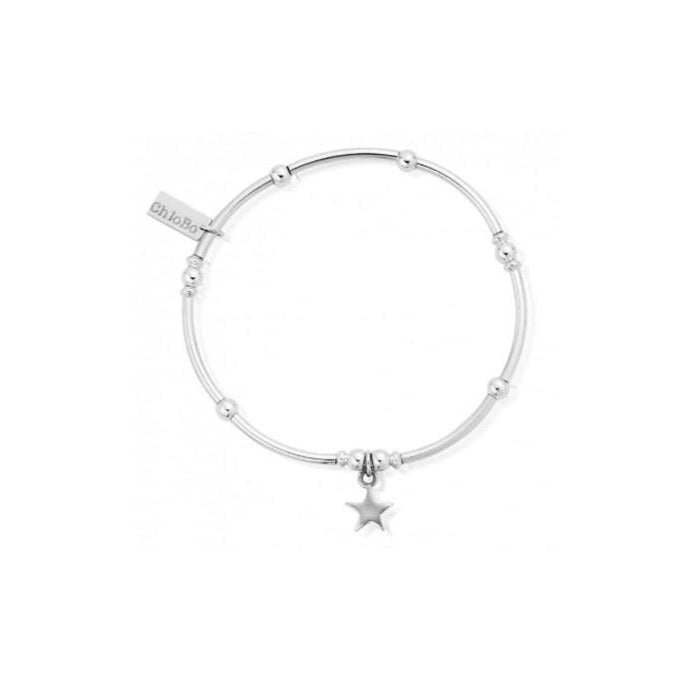 ChloBo Mini Noodle Ball with Star Charm Silver