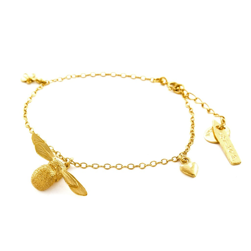 Baby Bee Bracelet - Gold Vermeil - AM2008-GP