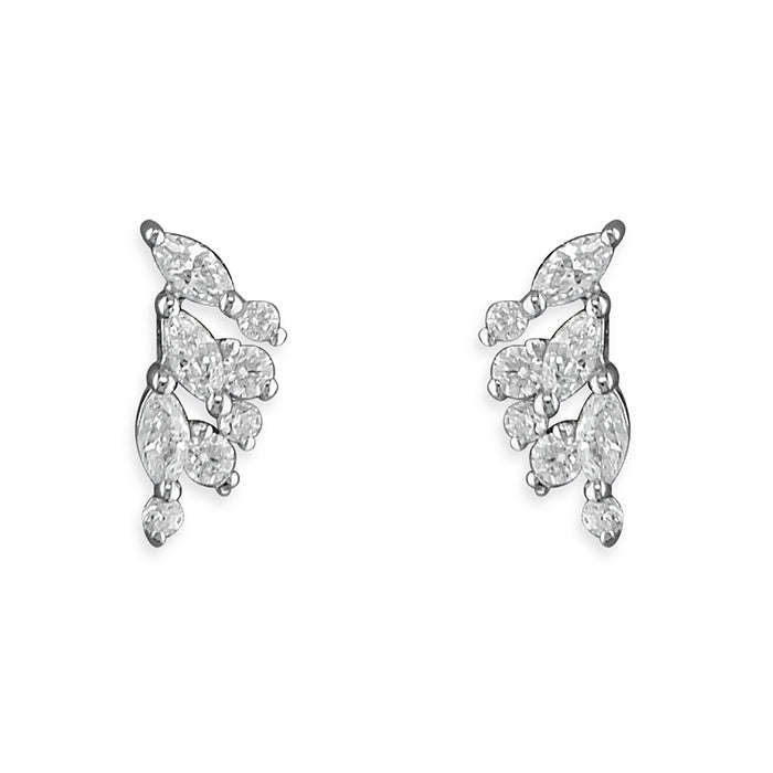 Sterling Silver Small Wing Studs