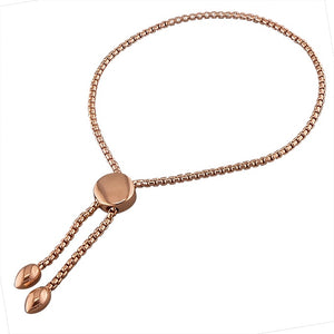 18ct Rose Gold Round Slider Bracelet