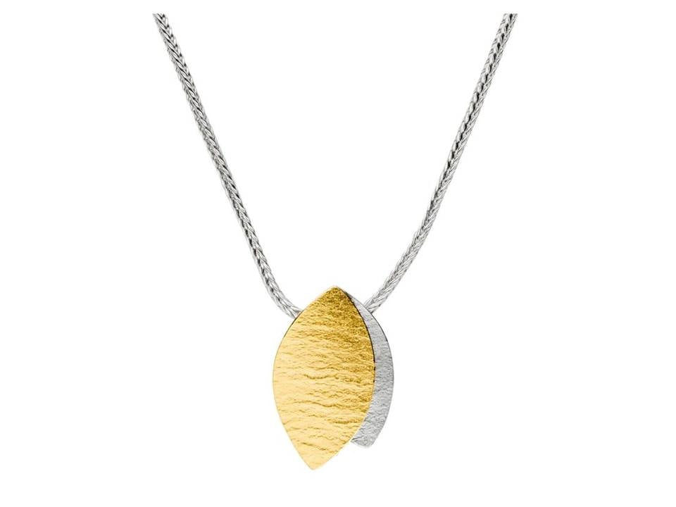 Silver & Gold Leaves Necklace