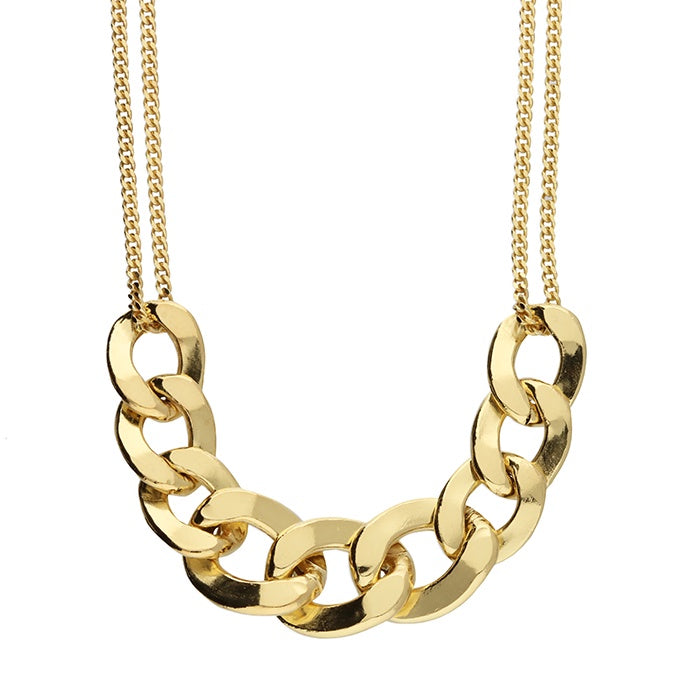 Golden Mixed Chain Necklace, 18ct Gold Plated