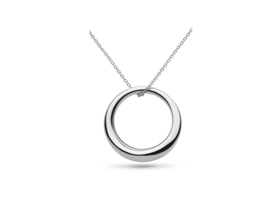 Silver Heavy Bevel Cirque Long Necklace