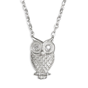 Sterling Silver Little Owl Necklace