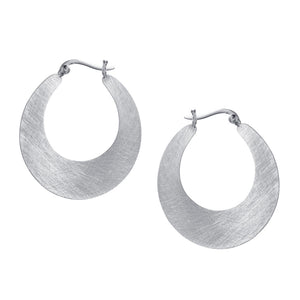 Silver Cresent Hoop Earrings