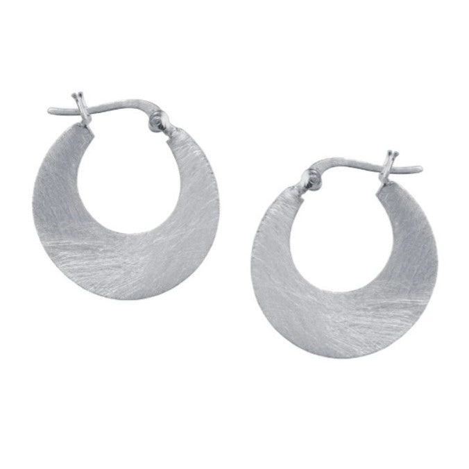 Small Silver Cresent Earrings