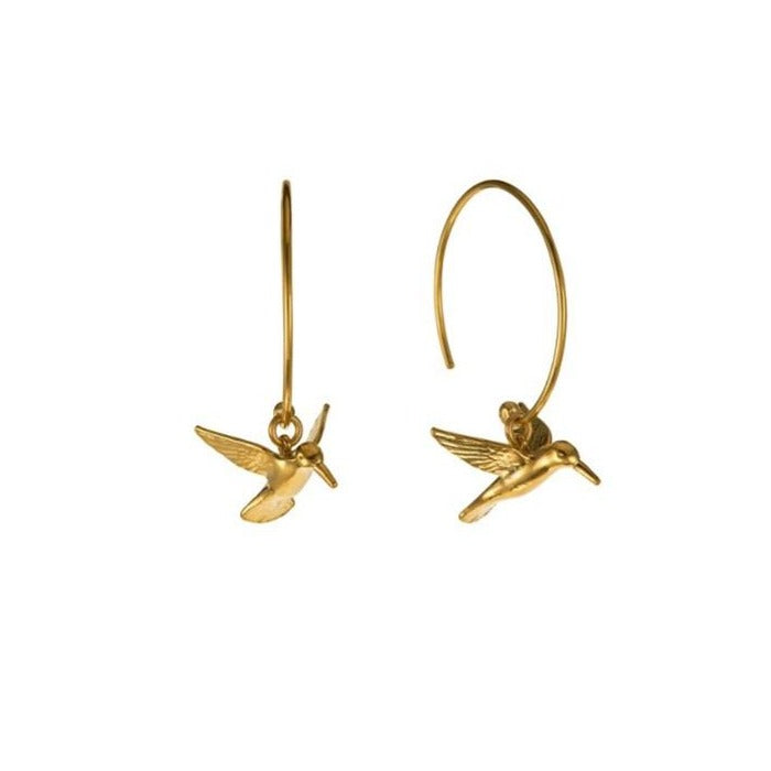 Hummingbird Hoop Earrings by Alex Monroe - SUE3