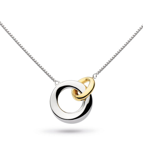 Bevel Interlocking Circles Necklace