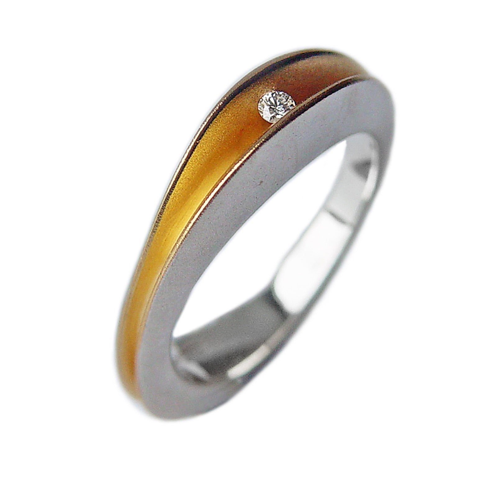3pt Split Silver Shell Ring