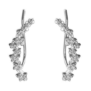 Sterling Silver Multi-Star Climber Earrings