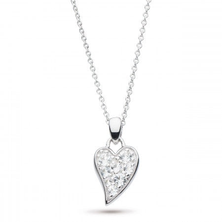 Sterling Silver Desire Heart White Topaz Necklace