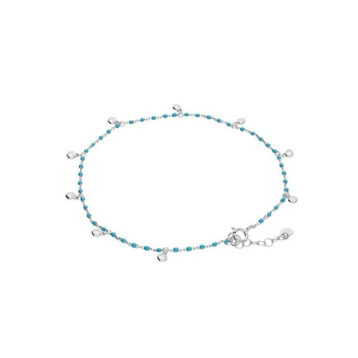 Sterling Silver & Turquoise Anklet