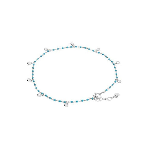 Silver & Turquoise Anklet