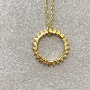18ct Gold Plated Sunburst Necklace