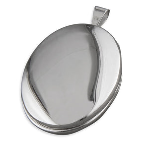 Sterling Silver Oval Locket Necklace