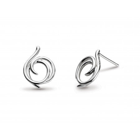 Sterling Silver Entwine Helix Large Studs