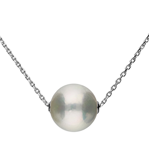 Large Freshwater Pearl on Chain Necklace