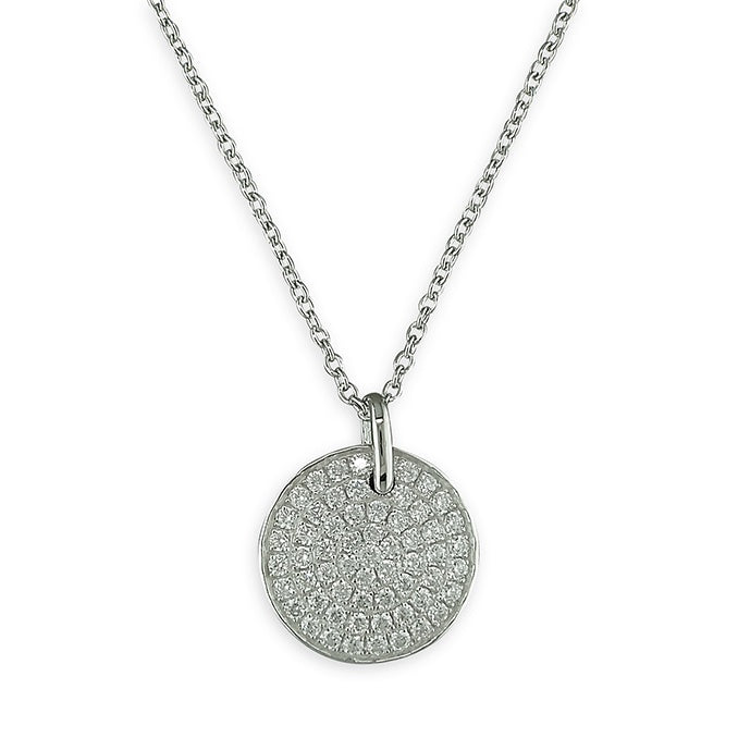 Sterling Silver CZ Encrusted Necklace