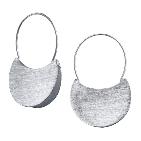 Silver Handbag Hoop Earrings