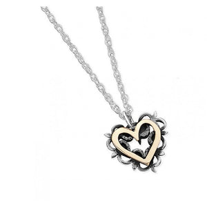 Silver & Gold Vintage Romance Necklace - EVR6G