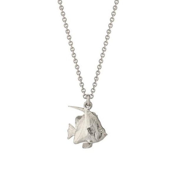 Alex Monroe Silver Angelfish Necklace - OCN3-S