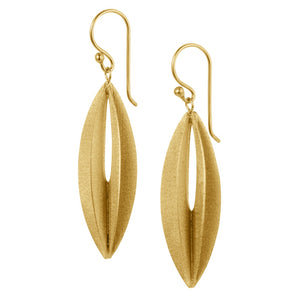 Golden Eliptic Earrings