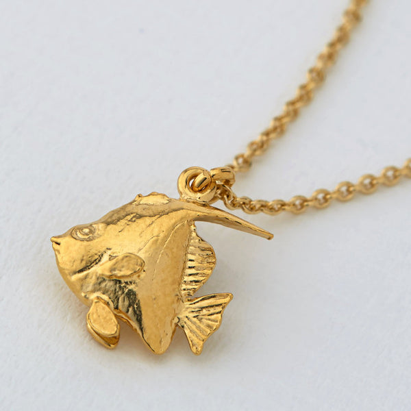 Alex Monroe Gold Angelfish Necklace - OCN3-GP