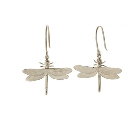 Silver Dragonfly Earrings - MGE11/S