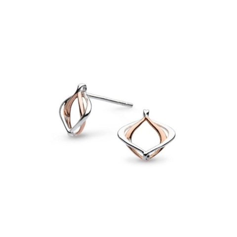 18ct Rose Gold Entwine Small Studs