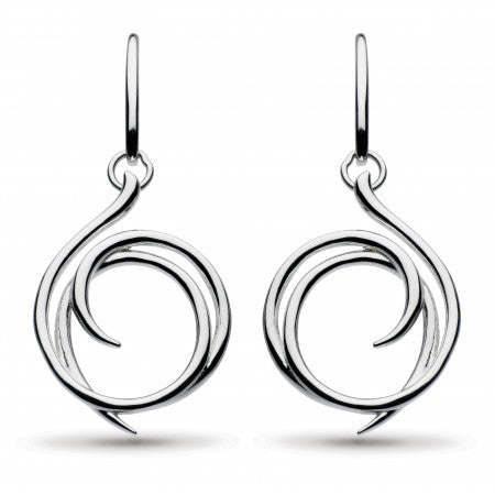 Sterling Silver Helix Wrap Drop Earrings
