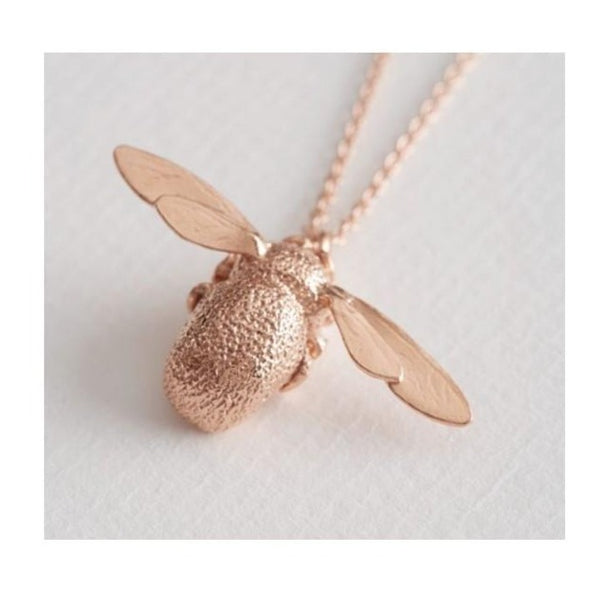Rose Gold Big Bee Necklace - OSN1