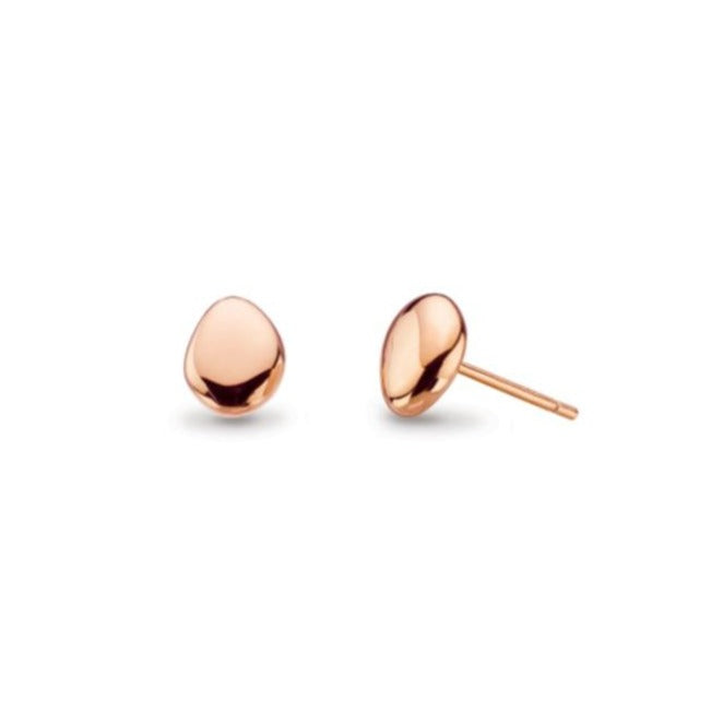 18ct Rose Gold Plated Pebble Studs