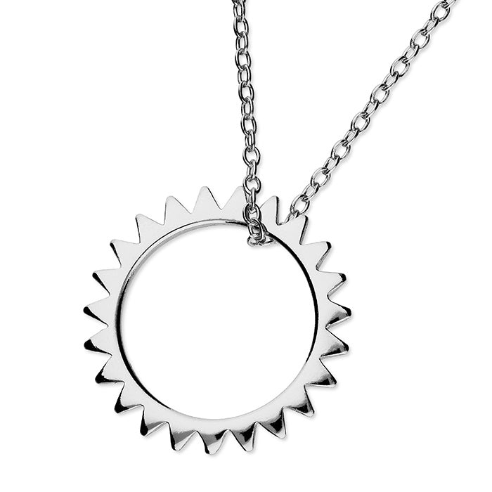 Sterling Silver Sun on Chain Necklace