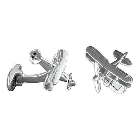 Sterling Silver Aeroplane Pitts Special Cufflinks