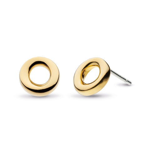 18ct Gold Plated Cirque Studs