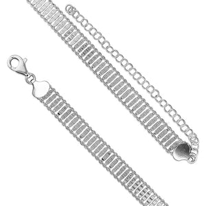 Solid Sterling Silver Ladder Choker