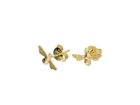 18ct Gold Plated Bee Studs