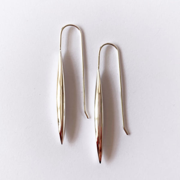 Sterling Silver Torpedo Hook Earrings