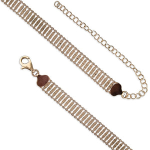 18ct Rose Gold Plated Ladder Choker