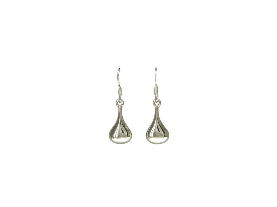 Sterling Silver Small Oozed Blob Drop Earrings