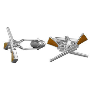 Sterling Silver Crossed Shotgun Cufflinks