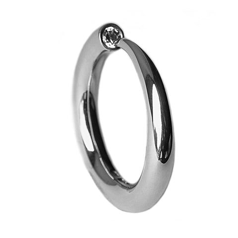 10pt Tapering Silver Ring
