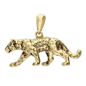 18ct Gold Plated Leopard Pendant & Chain