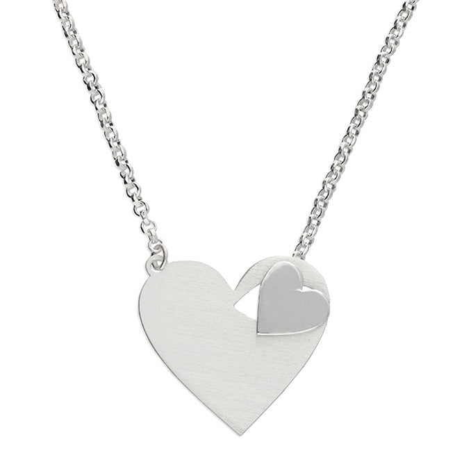 2 Heart Thread Through Necklace