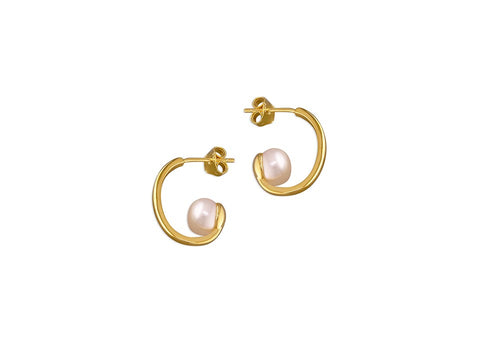 18ct Gold Freshwater Pearl Studs