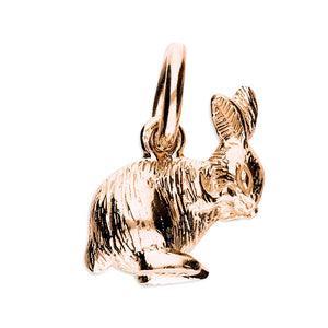 18ct Rose Gold Plated Shy Bunny Necklace