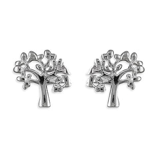 Sterling Silver Small Tree of Life Studs