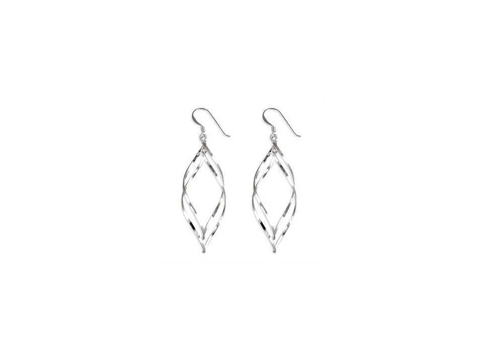 Sterling Silver Double Helix Hook-in Drops