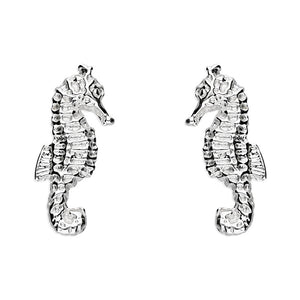 Sterling Silver Small Seahorse studs